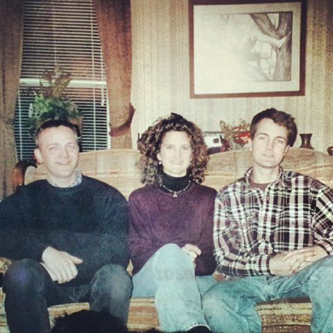 Me, my big hair, and my brothers. Circa 1998.